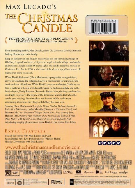 Max Lucado Christmas.Max Lucado S The Christmas Candle Dvd