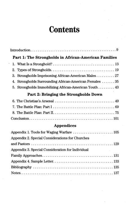 Breaking the Strongholds in the African-American Family