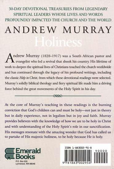 Andrew Murray on Holiness