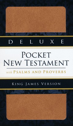 KJV Deluxe Edition, New Testament, Psalms & Proverbs, Imitation Leather, Brown