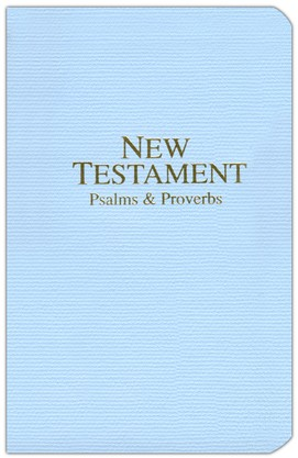 KJV New Testament with Psalms and Proverbs, Economy, Imitation Leather, Pastel Blue
