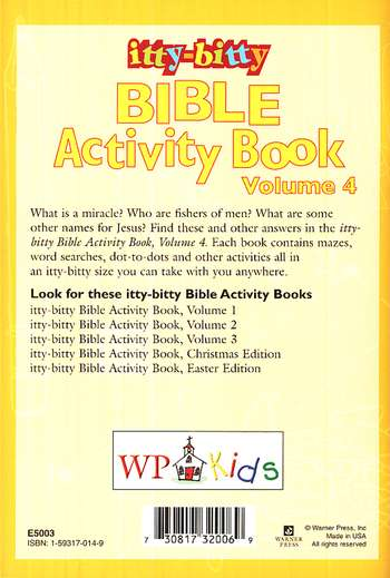Itty-Bitty Bible Activity Book: Volume 4