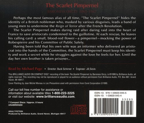 The Scarlet Pimpernel - audiobook on CD