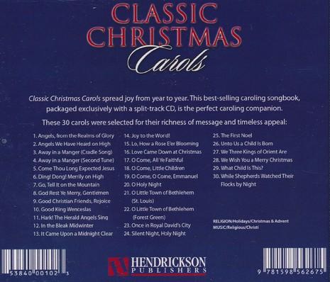 classic christmas carols compact disc cd 9781598562675 christianbookcom - Classic Christmas Carols