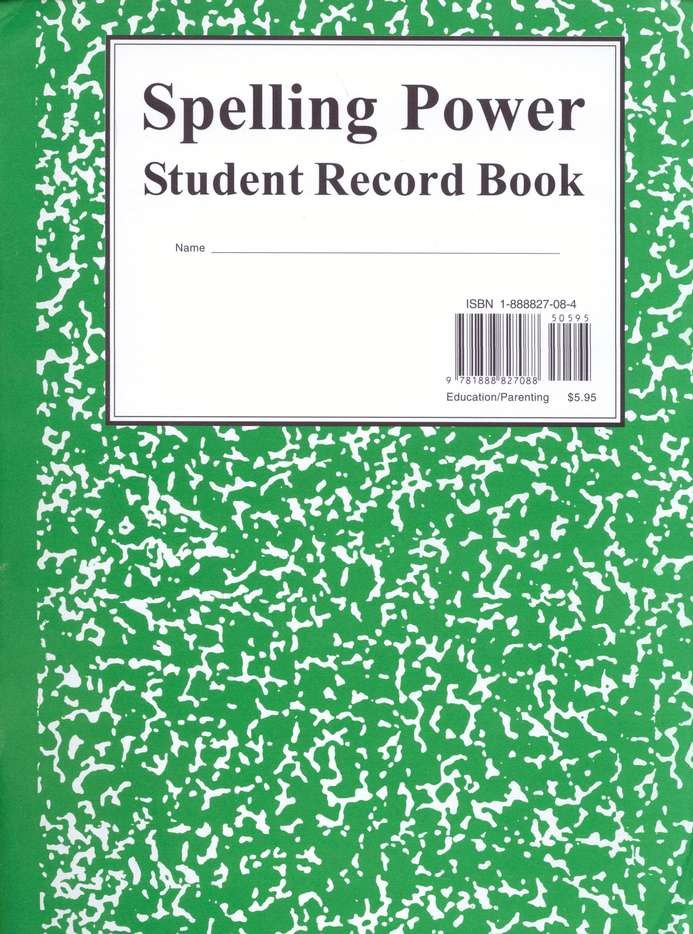 Spelling Power: Green Student Record Book