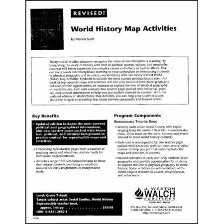 World History Map Activities