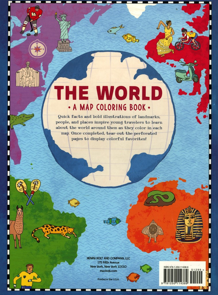 The World: A Map Coloring Book: Natalie Hughes: 9781250114389 ...