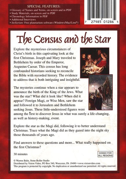 The Census and the Star, DVD