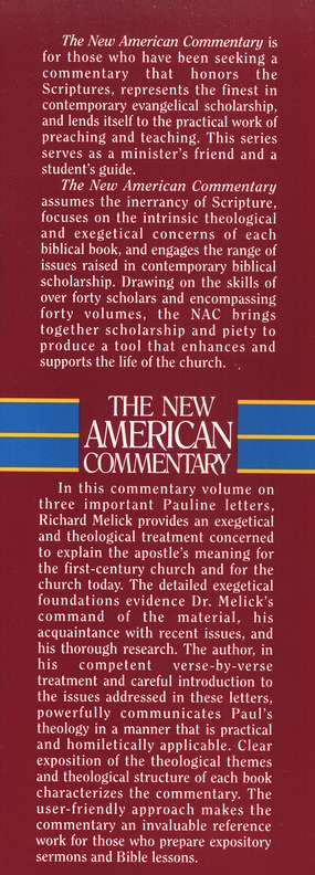 Philippians, Colossians & Philemon: New American Commentary [NAC]