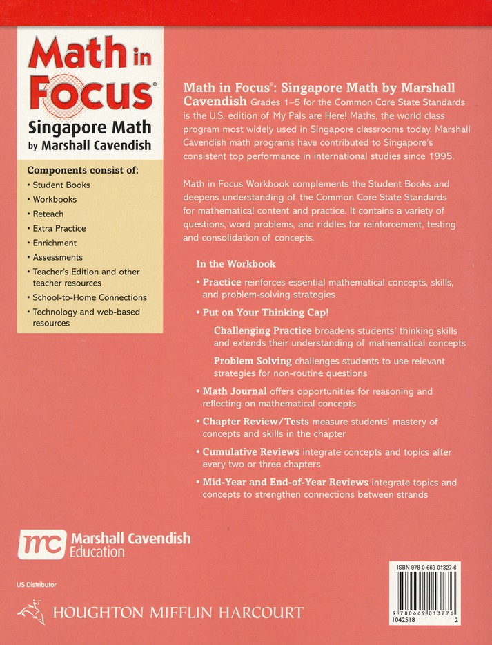 Math In Focus The Singapore Approach Grade 2 Student Workbook A