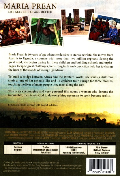 Maria Prean: Life Gets Better and Better, DVD
