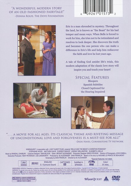 Belle and the Beast: A Christian Romance, DVD