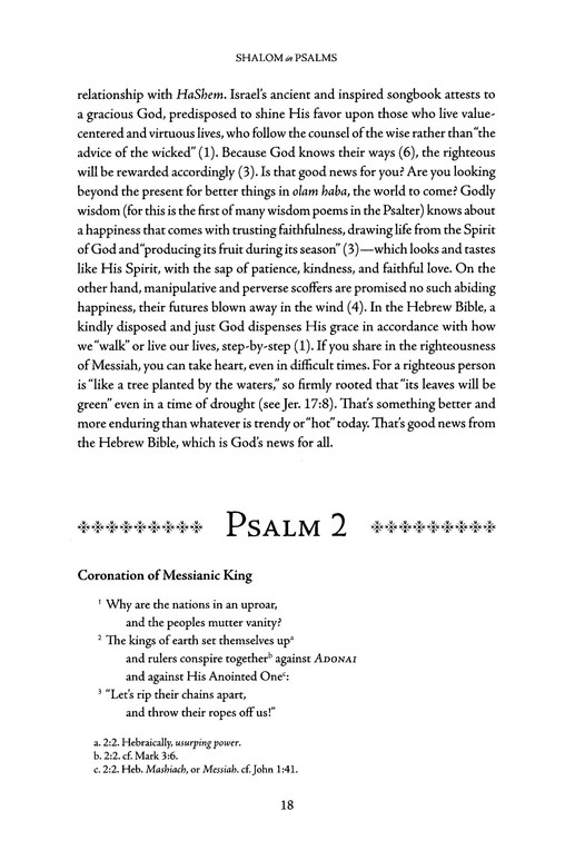 Shalom in Psalms: A Devotional from the Jewish Heart of the Christian Faith