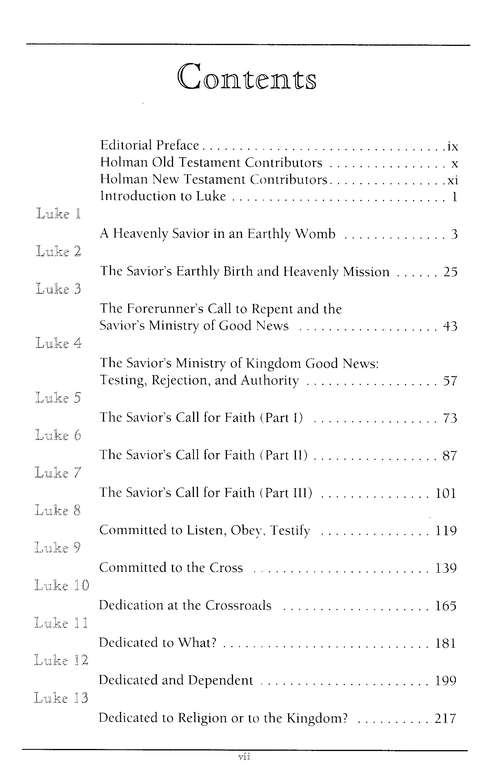 Luke: Holman New Testament Commentary [HNTC]