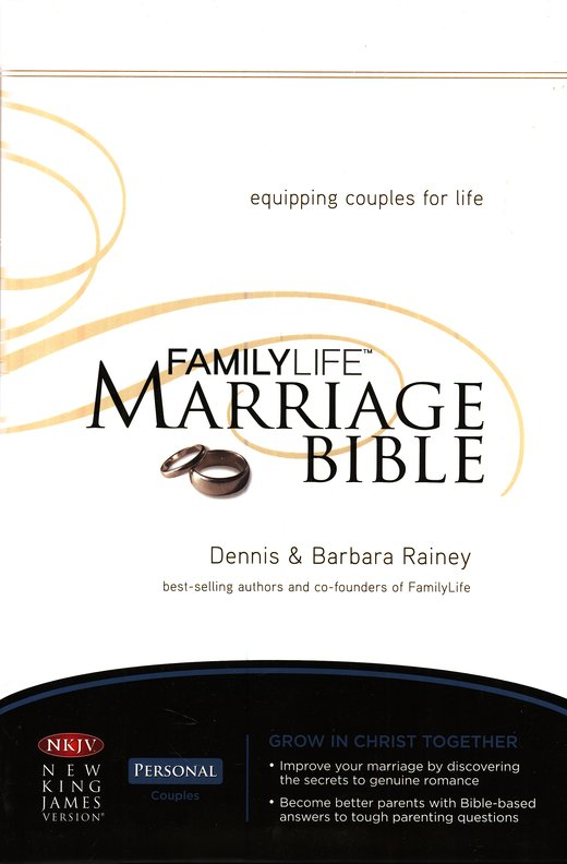 NKJV Familylife Marriage Bible: Equipping Couples for Life - Burgundy LeatherSoft Edition