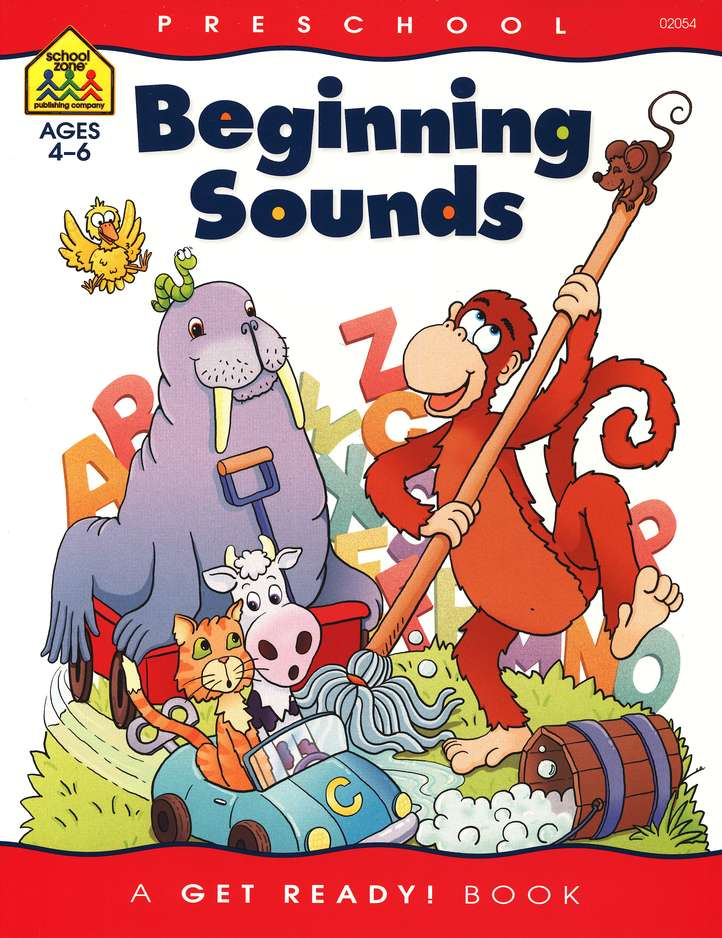 Perceptual Skills-Beginning Sounds, Preschool Get Ready Workbooks