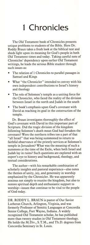1 Chronicles: Word Biblical Commentary [WBC]