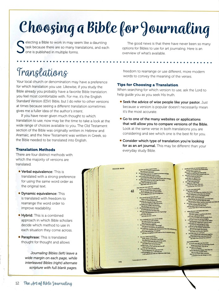 The Art Of Bible Journaling More Than 60 Step By Step Techniques For Expressing Your Faith Creatively