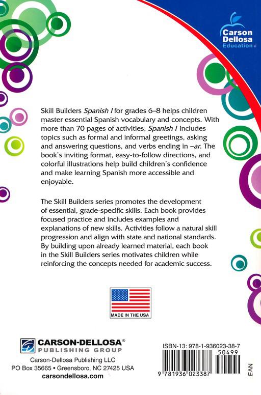 Skill Builders Spanish 1 Grades 6-8: 9781936023387 - Christianbook.com