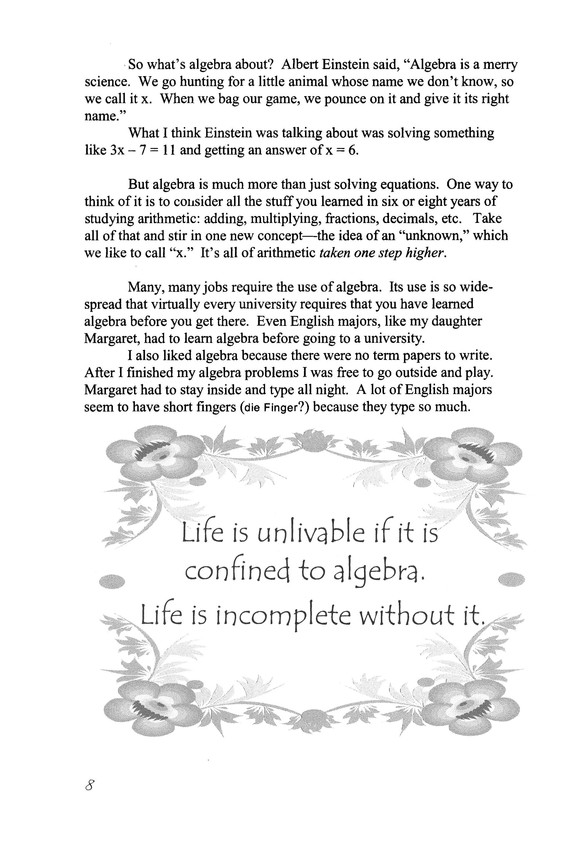 Life of fred beginning algebra expanded edition stanley f schmidt life of fred beginning algebra expanded edition stanley f schmidt phd 9781937032111 christianbook fandeluxe Choice Image