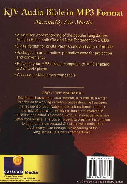 KJV Complete Bible on 2 CD's (MP3)