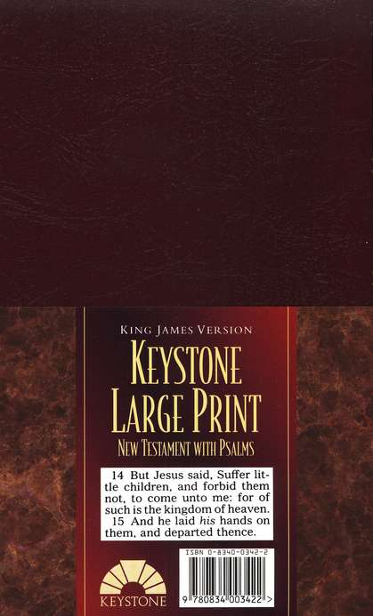 KJV Large-Print New Testament with Psalms, Imitation Leather, Burgundy