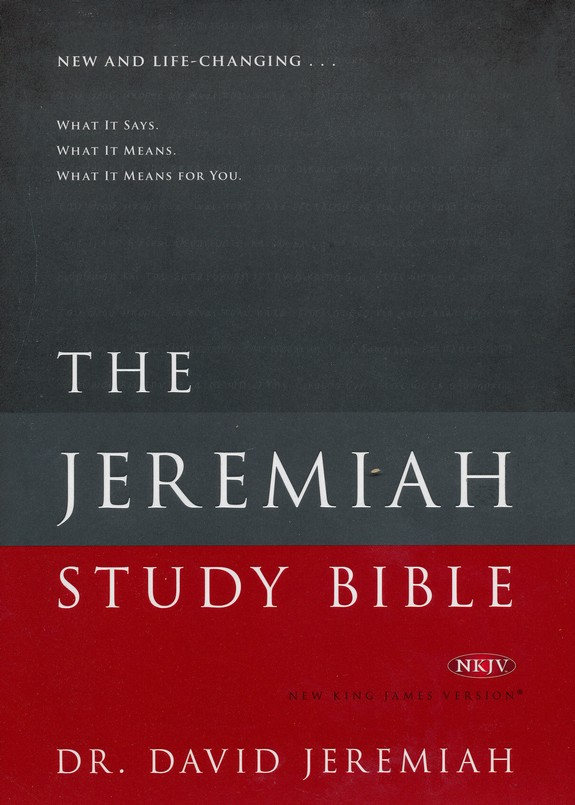 nkjv jeremiah study bible hardcover dr david jeremiah