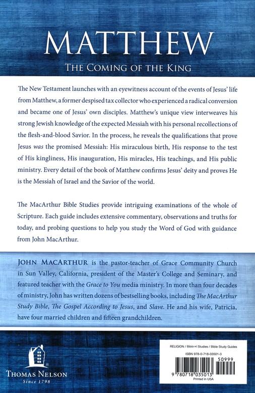 matthew macarthur bible studies john macarthur 9780718035013 rh christianbook com Young John MacArthur John MacArthur Quotes