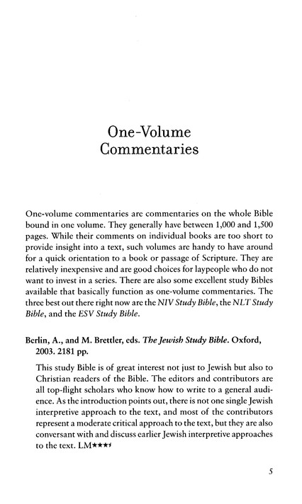 Old Testament Commentary Survey, Fifth Edition