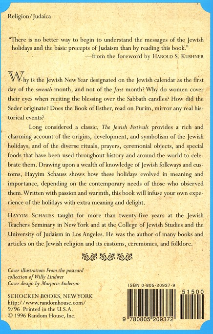 the jewish festivals schauss hayyim