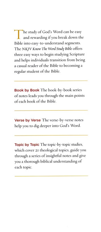 NKJV Know The Word Study Bible, Hardcover