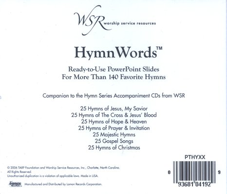 HymnWords: Ready-to-Use PowerPoint Slides for More Than 140 Favorite Hymns