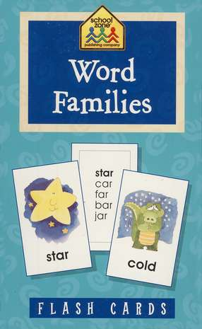 Word Families, Flash Cards for Beginners