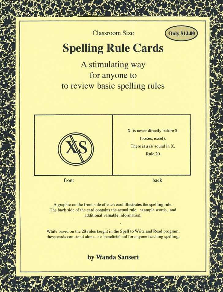 Spelling Rule Cards (Large)