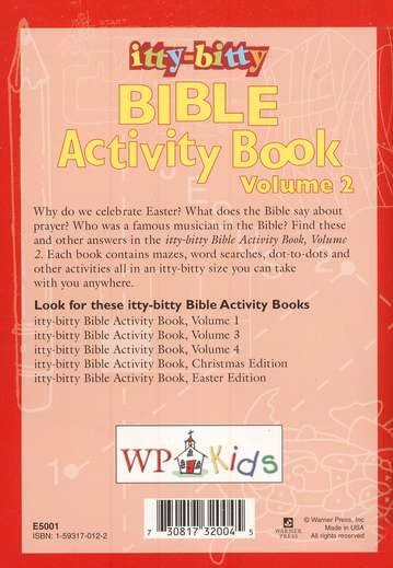 Itty-Bitty Bible Activity Book, Volume 2--Ages 7 and Up