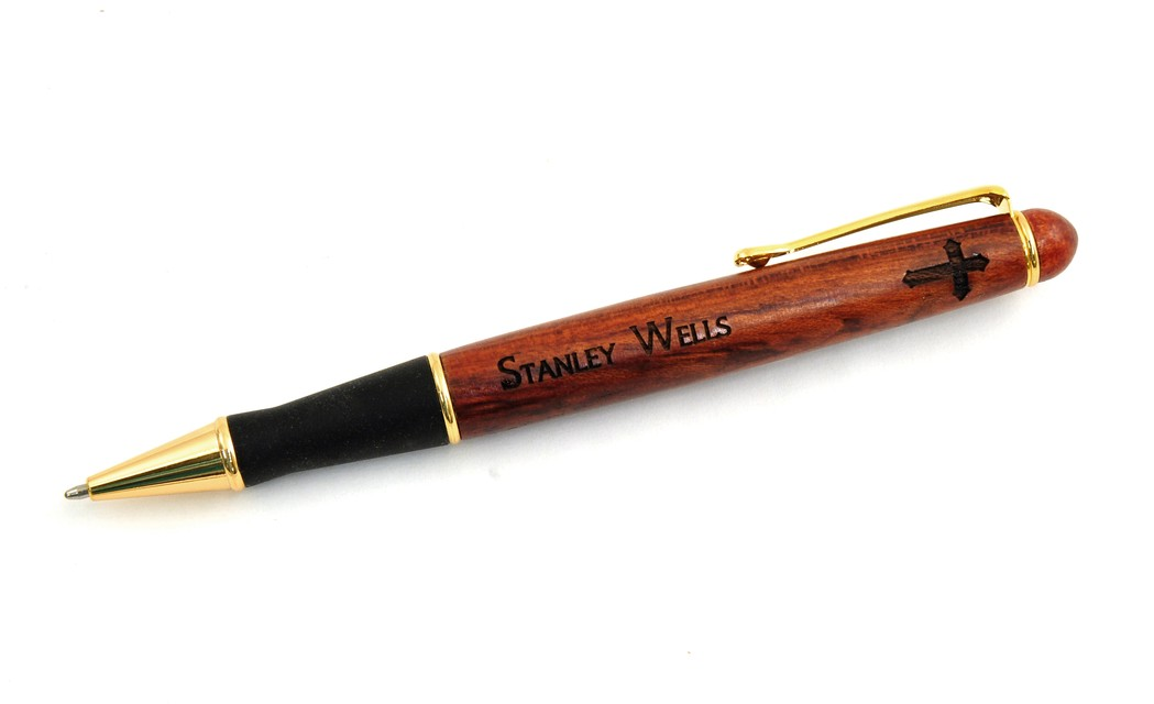 Personalized, Wooden Pen with Cross Image and Name