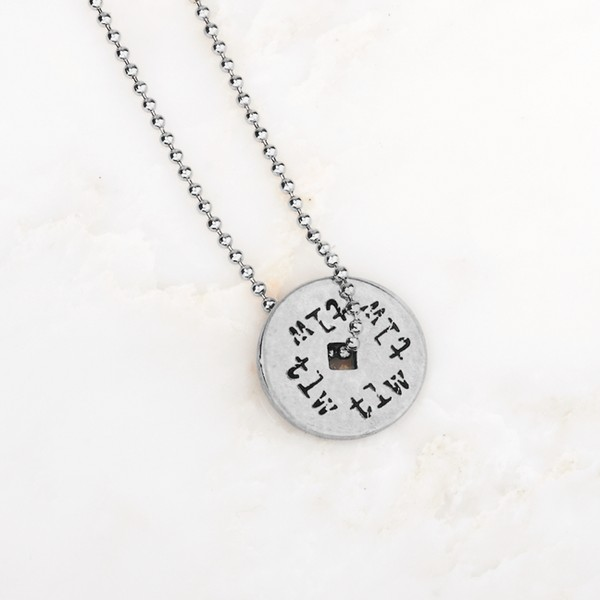 True Love Waits Pewter Pendant