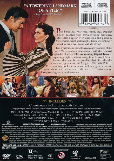 Gone with the Wind (1939), 2-DVD 70th Anniversary Edition