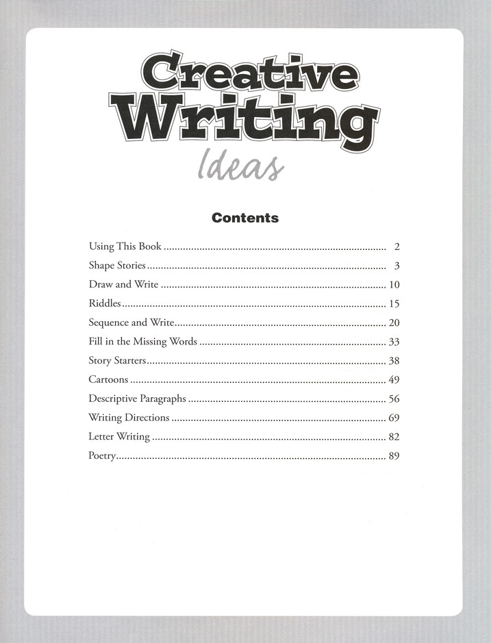 Creative Writing Ideas--Grades 2 to 4