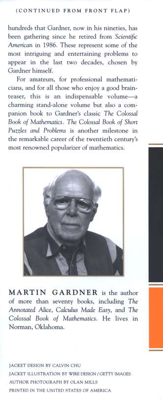 The colossal book of short puzzles and problems martin gardner the colossal book of short puzzles and problems martin gardner 9780393061147 christianbook fandeluxe Choice Image