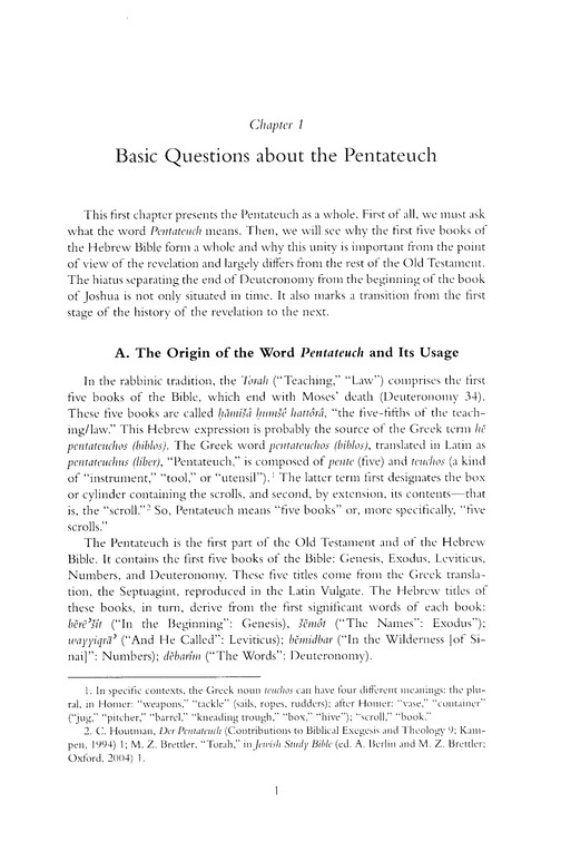 Introduction to Reading the Pentateuch