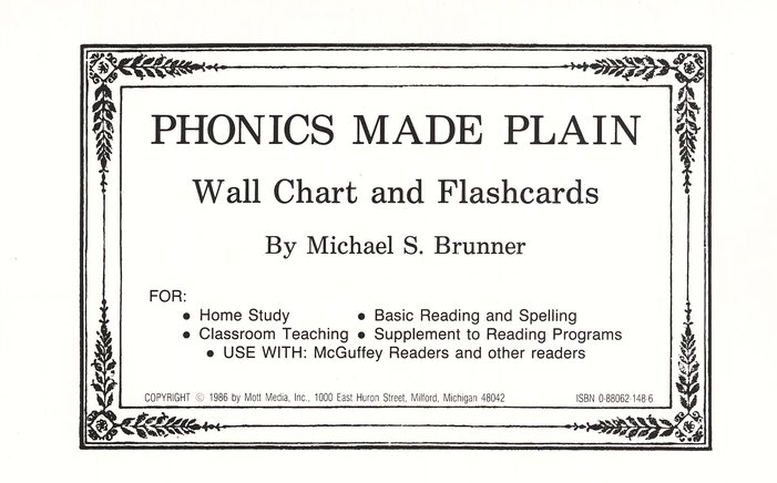 Phonics Made Plain: Flashcards