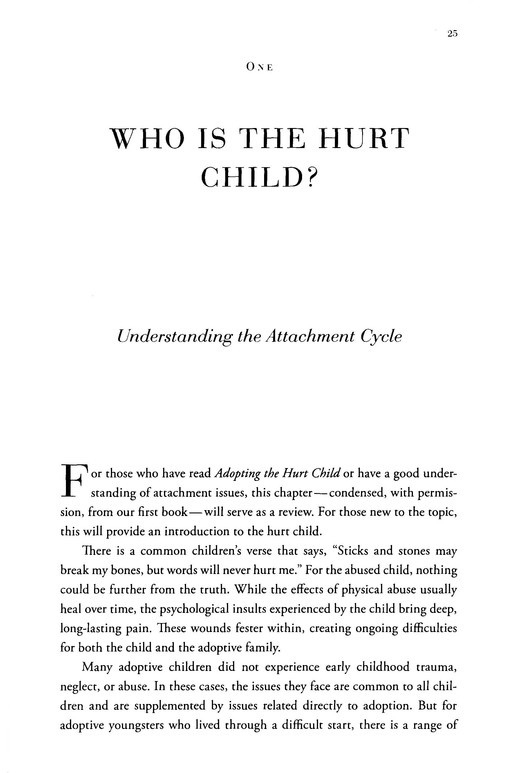 Parenting the Hurt Child, Revised and Updated