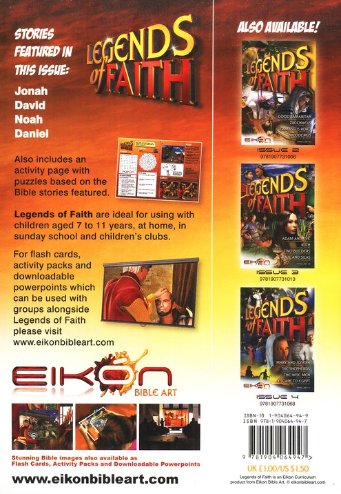 Legends of the Faith Comic #1 - Stories of Jonah, Noah, and Daniel