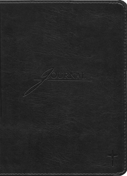 Handy Size Leather-look Journal, Black