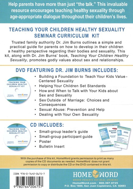 Teaching Your Children Healthy Sexuality DVD Curriculum Kit: A Biblical Approach to Prepare Them for Life