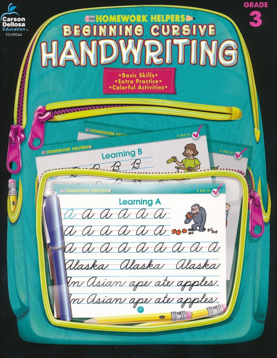 Beginning Cursive Handwriting (3) Homework Helper