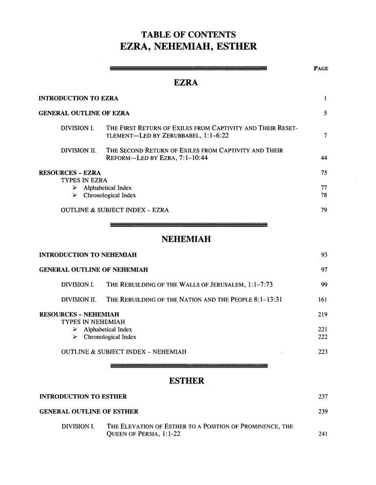 Ezra/Nehemiah/Esther [The Preacher's Outline & Sermon Bible, KJV]