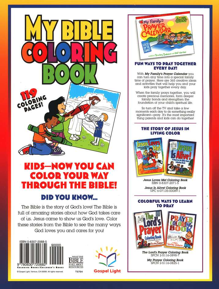 My Bible Coloring Book: A Fun Way for Kids to Color Through the Bible--from Genesis to Revelation!