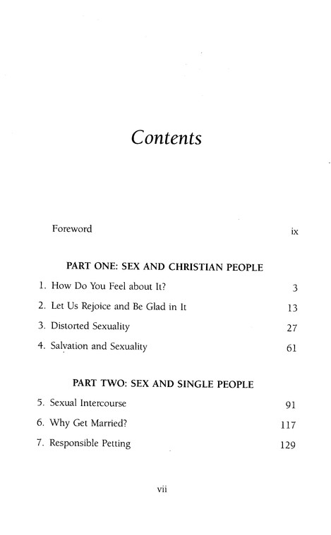 Sex for Christians, Revised